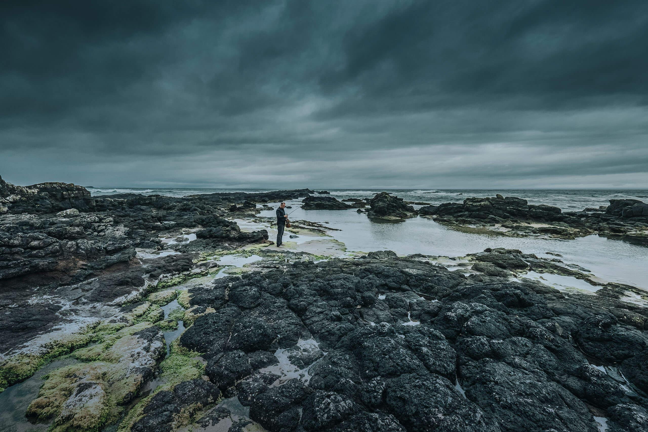 landschapsfoto ierland artiestenfotografie Frank van Essen Violist artiest