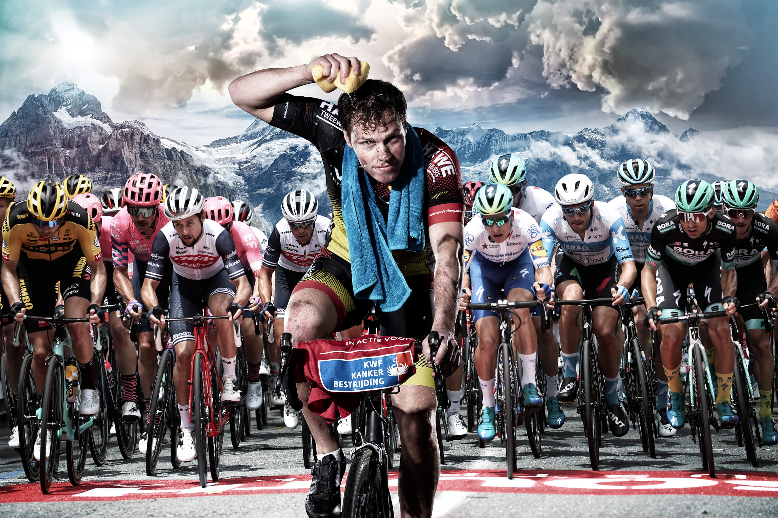 KWF kankerbestrijding Alpe d'huzes frankrijk tocht fietsen